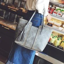 Women's bag 2018 new Korean fashion handbag retro tassel shoulder bag large capacity ladies hand improve quality black все цены