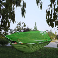 2017 Hot Fashion Handy Hammock Single Person Portable Parachute Fabric Mosquito Net Hammock For Indoor Outdoor