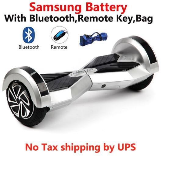 No tax Hoverboard 8 Inch Self Balancing Scooter LED Light Samsung Battery font b Electric b