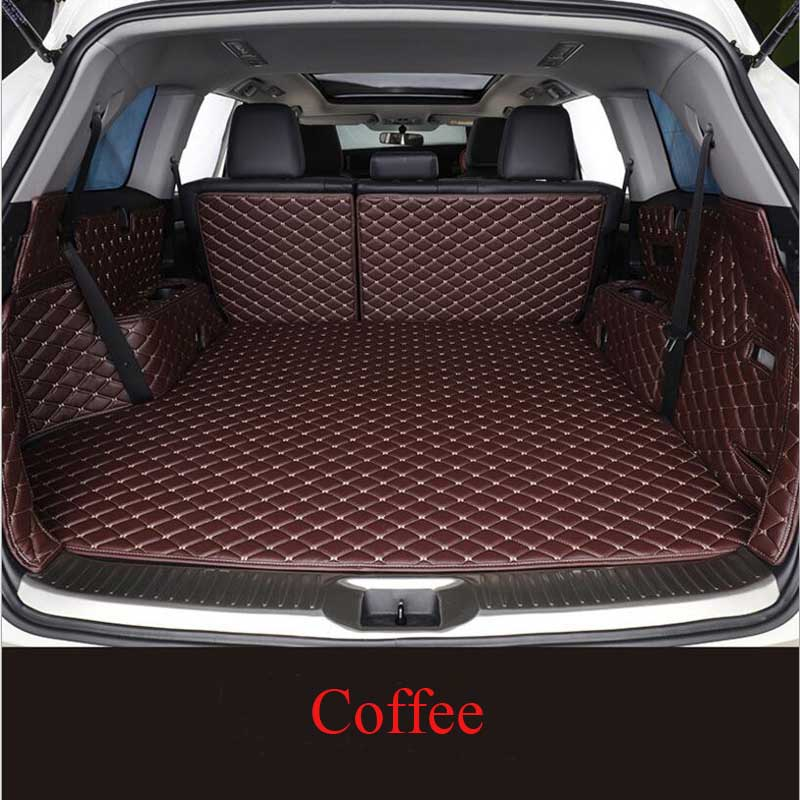 For Haval F7 2019 -2020 Custom Leather Car Trunk Mats Car Cargo Rear Boot Liner Trunk Mat Carpet Styling