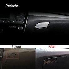Tonlinker крышка наклейка для SKODA SUPERB 2016-18 Автомобиль Стайлинг шт. 1 шт. нержавеющая сталь перчаточный ящик ручка положение крышка наклейка s