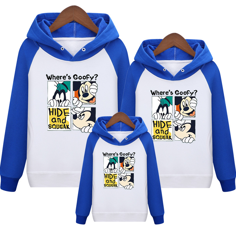 HTB1czyTcLc3T1VjSZLeq6zZsVXao - Family Matching Outfits Kids Long Sleeves Cartoon Mickey Hoodies Coats Father Mother Daughter Son Sweatshirts Dad Mom Hoodies
