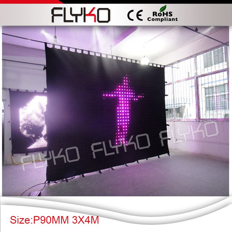 Free shipping P90 3X4M stage for concert led curtain decoration