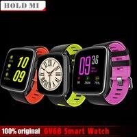 Mantenga mi gv68 Smart Watch hombres mujeres impermeable mtk2502 smartwatch teléfono Wearable dispositivo ritmo cardíaco Monitores para ios android
