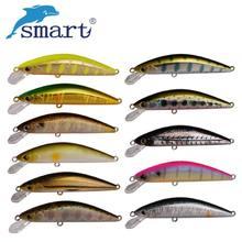Смарт-5,5 см/4,6 г Minnow жесткие рыболовные приманки VMC тонущий крючок металлический столбец воблеры для ловли карпа, искусственная приманка для ...