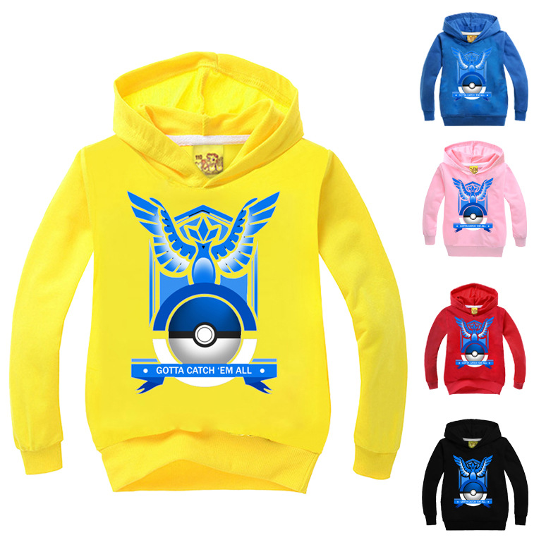 Spring/Autumn Pokemon Go Plus Clothes Boys Jackets Boys Hoodies Sweatshirts for Kids Jacket Child Coat Hooded Long Sleeves