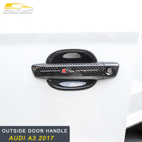 GELINSI Outside Door Handle Bowl Cover Trim Frame Sticker Exterior Accessories for Audi A3 2017 Car Styling
