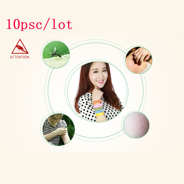 10Pcs Bracelet Anti Mosquito Mozzie Insect Bugs Repellent Repeller Wrist Bands Wristband dropshipping Mosquitoes Pest Control