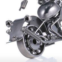 Handmade Metal Motorcycle Sculpture