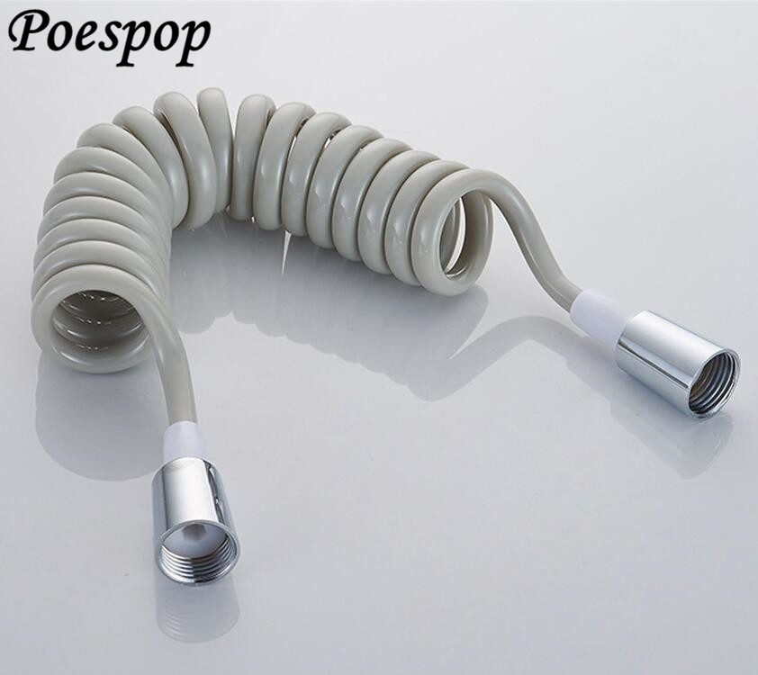 ABS Telephone Line Style Spring Flexible Shower Hose Water Plumbing P US