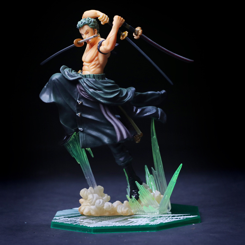 Anime One Piece 19cm Roronoa Zoro PVC Action Figure Collection Model Toy new hot 17cm one piece roronoa zoro action figure toys doll collection christmas toy with box combat version suolo5