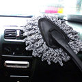 Hot Sale 1PC Multifunctional Car Duster Cleaning Dirt Dust Clean Brush Dusting Tool Mop Gray Brush EA10672
