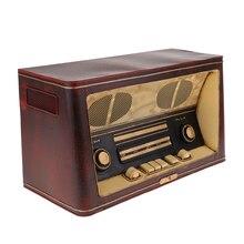 Antigüedad de imitación en hierro Radio modelo Retro nostálgico Barra para adornos dormitorio decoración del hogar Accesorios 36x16x20 cm