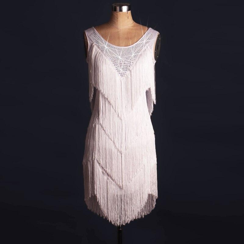 New style Latin dance costume spandex tassel stones latin dance dress for women latin dance competition dresses