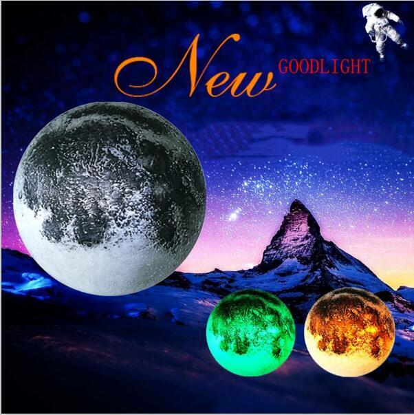Newest second generation Healing Moon Remote control lunar lamp led sleep lamp emergency lighting Decorative lamp Atmosphere