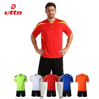 Etto High Quality Short Sleeve Jersey Shorts Soccer Sets Men Women Breathable Quick Dry Football Uniforms Training Match HUC006