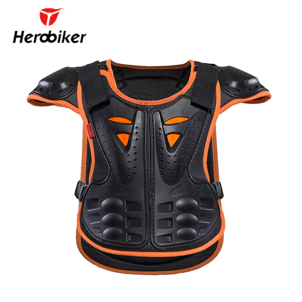 HEROBIKER Kids Body Motorcycle Armor Children Armor Vest Protective Suitable for 4-12 Ag ...