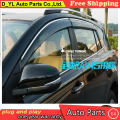 D_YL visor car styling Chrome Deflector de Viento Viso Lluvia/Sun Guardia Vent FIT For 2013 2014 Toyota RAV 4 Lluvia escudo