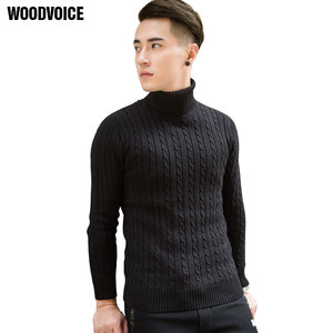 Image 3 - 2020 Fall Winter Thick Warm Cashmere Sweater Men Turtleneck Men Brand Mens Sweaters Slim Fit Pullover Men Knitwear Double collar