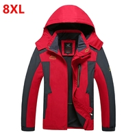 Spring new men's fleece jacket large size thin cashmere jacket plus size coat men clothing 8XL 7XL 6XL 5XL oversize
