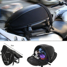 Motorcycle Tail Bag Motorbike Seat Back Saddle Rear Package custom made Moto Travel Handbag