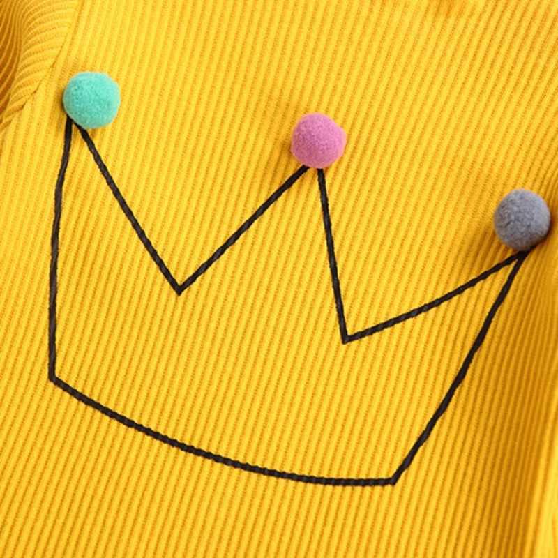 เสื้อเด็กเด็กวัยหัดเดินเด็กสาวแขนยาวเสื้อยืดเสื้อด้านบนผ้าฝ้ายลูกอมสีเสื้อผ้าเด็กทารกเสื้อผ้า