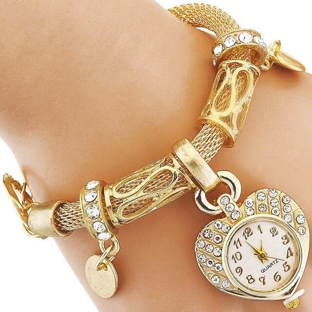 Hot Sale Casual Dress Watches Women Love Fashion Quartz Watch Ladies Bracelet Wa