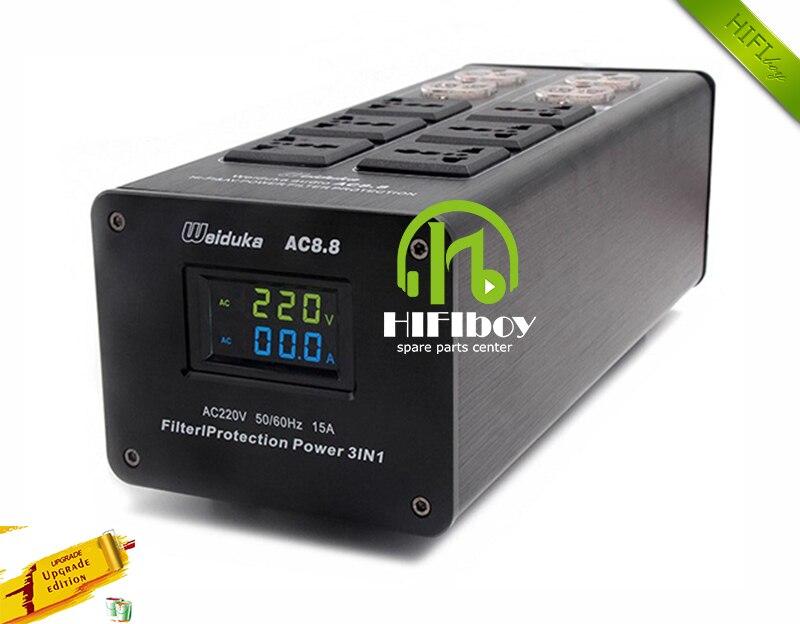 Prix pour Puissance filtre Weiduka AC8.8 alimentation socket protection contre la foudre avec affichage de la tension extension socket