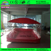 Guangzhou transparent inflatable dustproof/waterproof cover showcase for car exhibition sell
