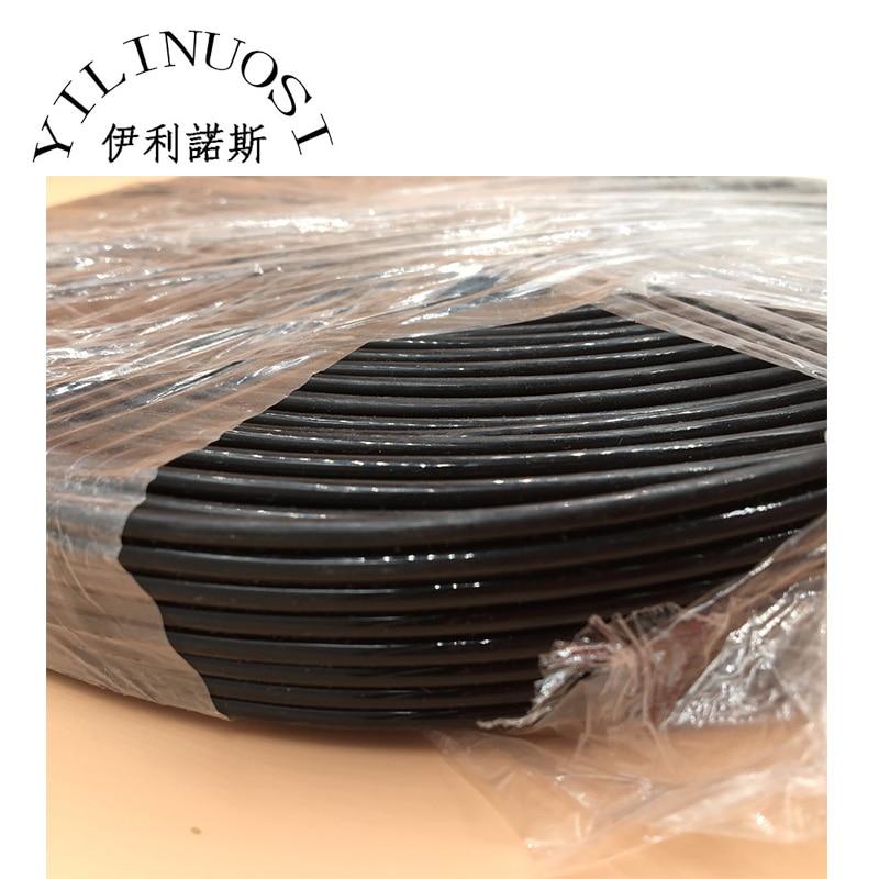 10 mètres 8 lignes noir UV Tube d'encre ECO solvant 2.6mm x 3.6mm