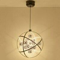 Lampade A sospensione modern creativo minimalista moda personalizzata ristoranti negozi di abbigliamento pianeta tracce palline di vetro LU727283