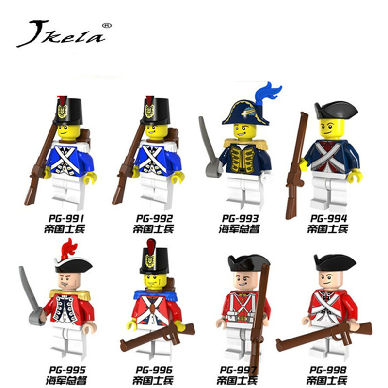 [New] mperial Redcoat Army Soldier With Gun Collectible Building Blocks Children Gift Toy Compatible Legoingly soldiers