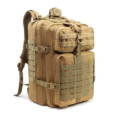 Exército à Prova Bolsa de Assalto para o Homem Mochila ao ar Bug para Fora Dwaterproof Água Tático Mochila Molle Militar Caça Viagem Caminhadas Livre 45l