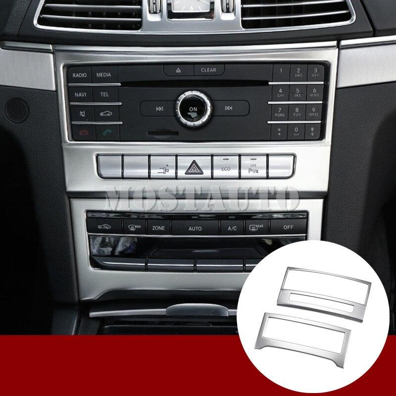 Pour Benz Classe E Coupé W207 C207 Intérieure Center Console CD panneau couverture 2014-2016 2 pièces