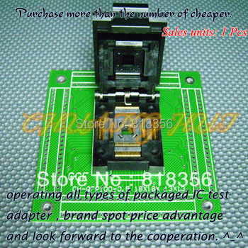 CH-QFP100-0.5 Programmer Adapter TQFP100 QFP100 18x18 13x13 Adapter QP1-100050-027 Adapter/IC SOCKET(Flip test seat)