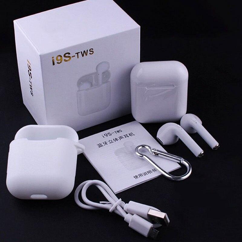 Auriculares estéreo inalámbricos auténticos I9S TWS auriculares inalámbricos Mini 5,0 auriculares Bluetooth Auriculares auriculares invisibles para todos los teléfonos inteligentes