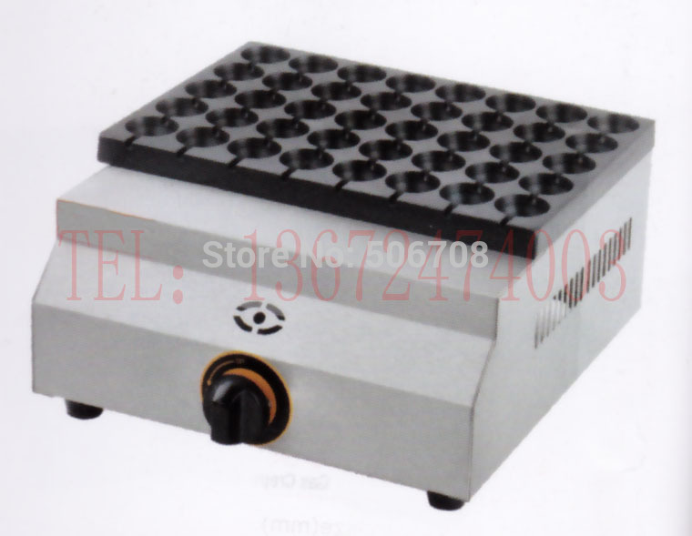 Free shipping Gas type 40 holes small takoyaki maker meatball maker Quail eggs oven free shipping gas meatball maker three plate takoyaki machine