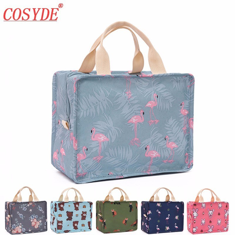 цена на New Cute Women Portable Insulated Lunch Bags For Travel Lunch Box Picnic Bento Box Fruits Food Container Outdoor Organizer Bags