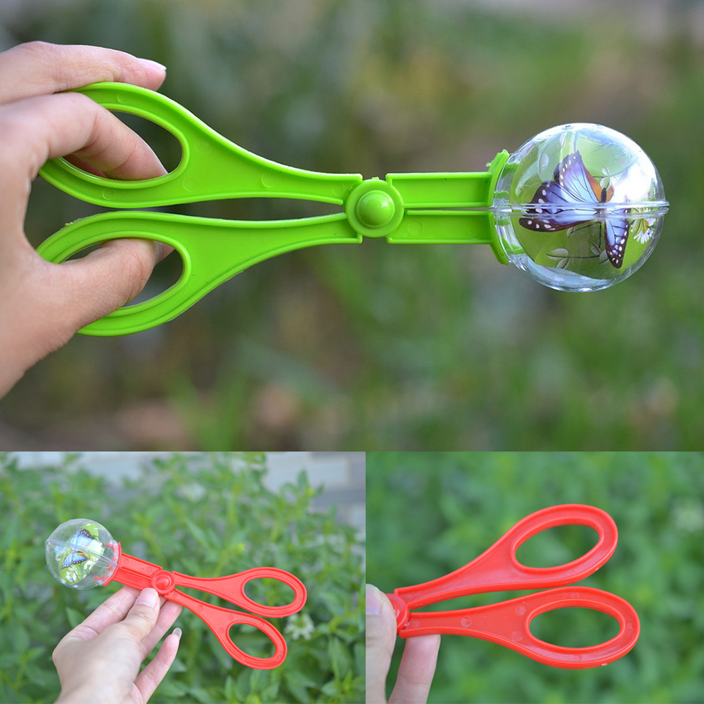 Multifunctional Clamp Toys Bug For Kids Collection Plastic Insect Catcher Scissors Camping Educational Clip Handy Random Color