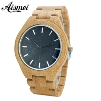 Luxury Gift Full Wooden Watches Man Creative Sport Bracelet Analog Nature Bamboo Quartz Wristwatch Male Clock