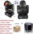 2 xLot Большой Мощный 150 Вт Гобо LED Moving Head Beam Wash Освещение 2 Колеса Гобо 3 Граней Призмы Dj DMX Дискотека Этап Эффект Свет