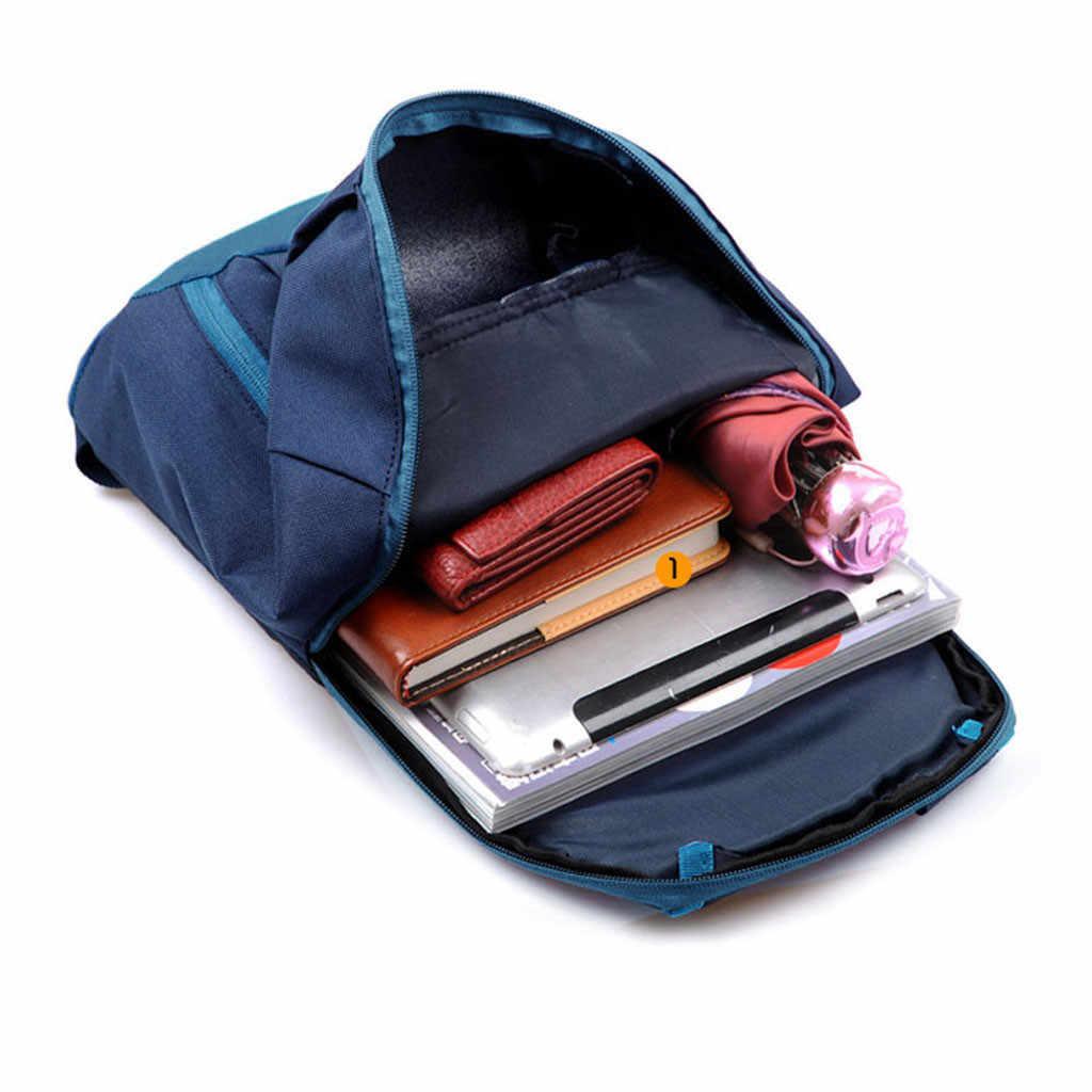ティーンエイジャーの女の子チェーン通学スポーツバックパックハイキングリュックサック男性女性ユニセックスランドセルサッチェルバッグハンドバッグ рюкзак #99 1080P