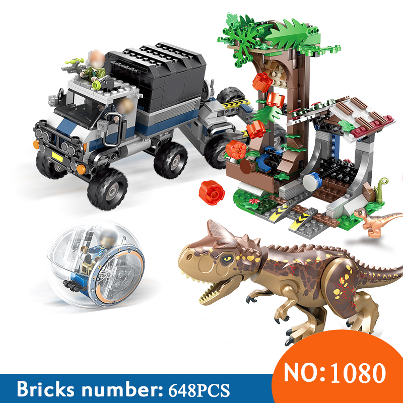 SY1080 Compatible with 75929 jurassic world dinosaur Bricks Carnotaurus Gyrosphere Escape Building blocks toys for children