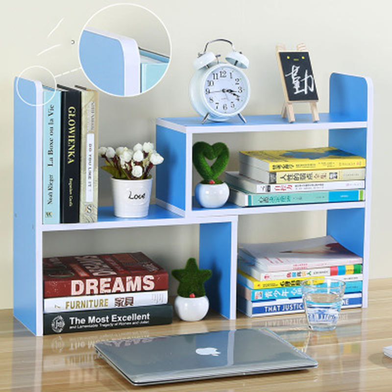 LM1151 Safety Round Corner Design DIY Office Bookcase Desk Bookshelf