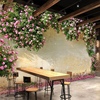 Beibehang Custom 3d Wallpaper Large Mural 3d Rose Rose Cafe Restaurant Theme Hotel Background Mural Papel