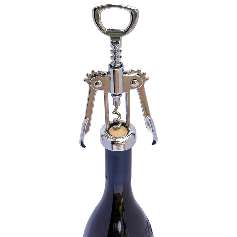 Stainless Steel Wing Red Wine Corkscrew Beer Bottle Opener Bar Restaurant Tool W