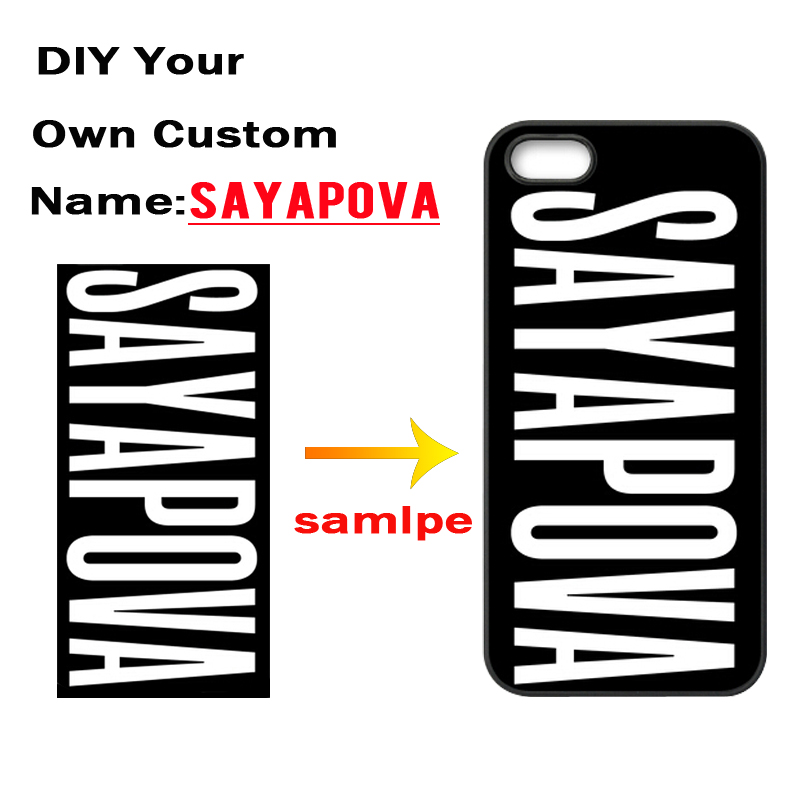 DIY Custom Name Cover Case for iPhone 4 4S 5 5S 5C 6 6S Plus Samsung Galaxy S3 S4 S5 mini S6 S7 Edge A3 A5 A7 2015 J5 J7 2016