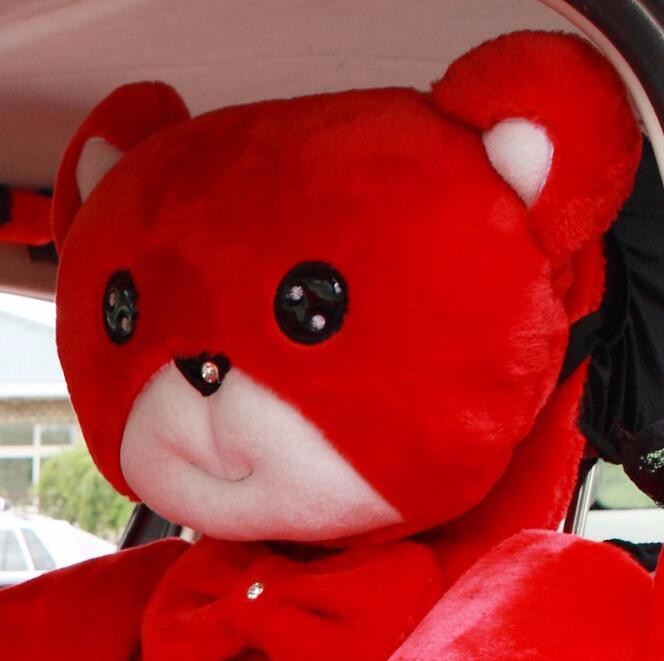 Mei-Mei-Bear-Car-Seat-Cover-Interior-Accessories-Set-Universal-Steering-Wheel-Covers-Milk-Velvet-14