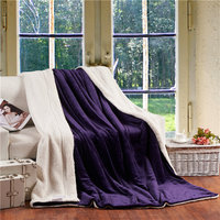All Season Large Warm Thick Sherpa Throw Blanket Coverlet Reversible Fuzzy Microfiber Plaid For Bed Or