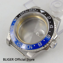 Сапфир Стекло 43 мм цвет синий, черный; большие размеры Керамика Безель из нержавеющей стальной корпус часов подходит для приблизительный срок поставки: 2836 Движение C30